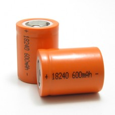 MNKE 600mAh IMR 18240 Flat Top Battery