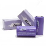 Efest Purple 700mAh IMR 18350 Flat Top Battery